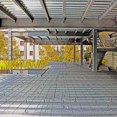 هزینه اجرای سقفهای عرشه فولادی