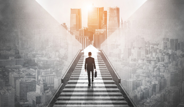 ambitious business man climbing stairs success 31965 3080