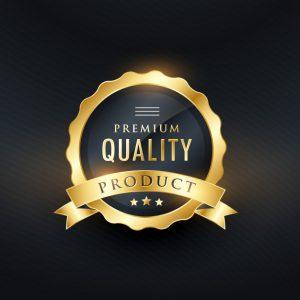 premium quality product golden label design 1017 12393
