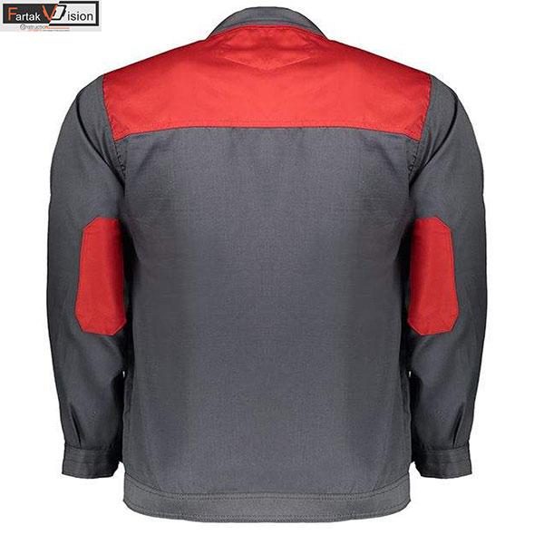 لباس کار مدل SA3 رنگ طوسی قرمز